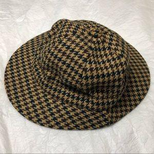 Vintage Linney London Tweed Hunting Hat Sz 7 1/8